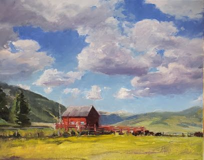 """""""Valley Vista"""" Colorado landscape painting by Robin Weiss"""
