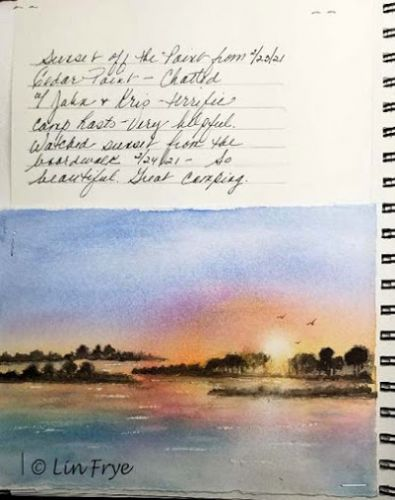 Travel Journal - Sunset at Cedar Point