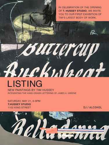 Artist Tim Hussey presents LISTING