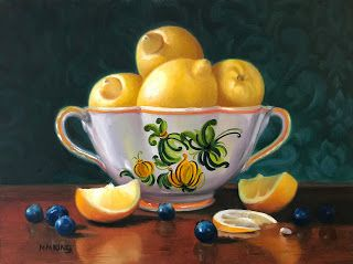 Lemons and Blueberries - SOLD