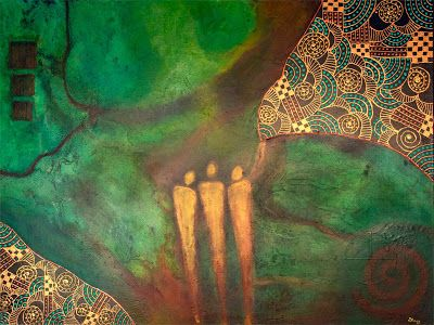 "Contemporary Art, Abstract, Mixed Media Abstract Painting,""As Above, So Below"" by Contemporary Arizona Artist Pat Stacy"