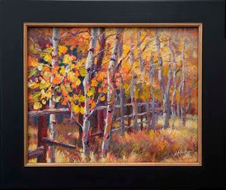 """""""Fence Line"""" Painting by Contemporary Impressionist Niki Gulley"""