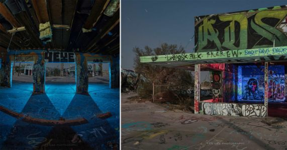 Photographer's Eerie Nighttime Series Features an Abandoned Water Park