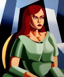 Mark Webster - Art Deco Portrait Oil and Acrylic Painting