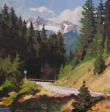 """""""Mountain Pass"""" Original landscape painting by Robin Weiss"""