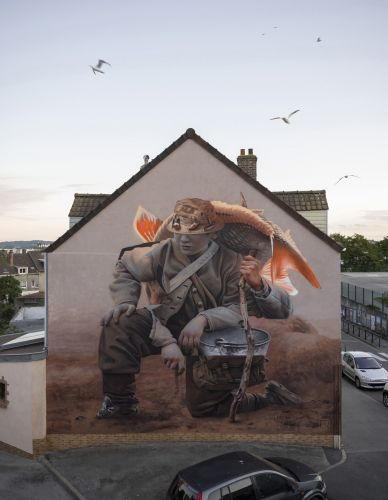 """""""Le Pêcheur"""" by Telmo Miel in Boulogne, France"""