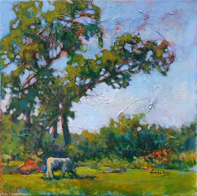 """Abstract Landscape Art Painting """"All Is Good!"""" by Texas Artist Holly Hunter Berry"""