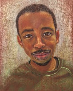 Carlton's portrait in pastels by Kim Blair