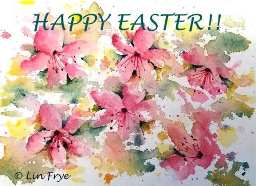 HAPPY EASTER! SPLASH AND SPLATTER AZALEAS