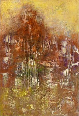 "Contemporary Art, Abstract Painting, Expressionism, Mixed Media ""PRIMORDIAL PERSEVERANCE II"" by Contemporary Artist Liz Thoresen"