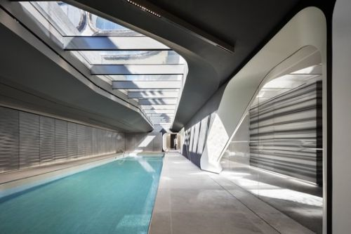 First Photos Revealed of Amenity Spaces at Zaha Hadid Architects' High Line Residential Tower