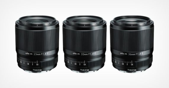 Tokina Unveils 23mm, 33mm, and 56mm f/1.4 APS-C E-Mount Lenses