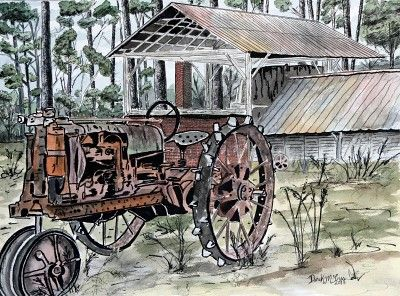 Farm-tractor-painting