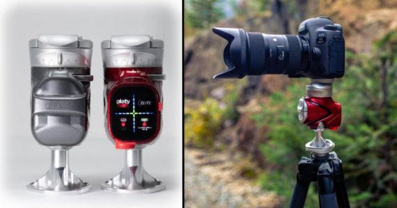 The Platyball is a 'Next Level' Tripod Head with an LED Level and No Protruding Knobs
