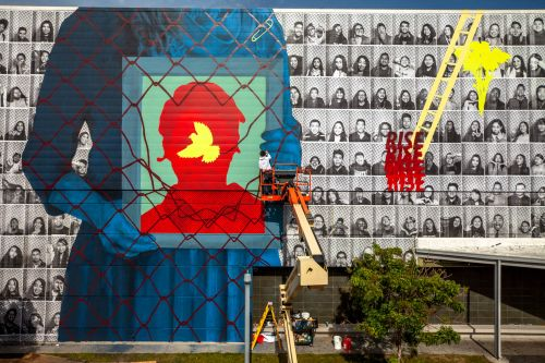 JR, Faith XLVII, and Two Dozen More Mural Artists Convene to Celebrate the Legacy of Dr. Maya Angelou