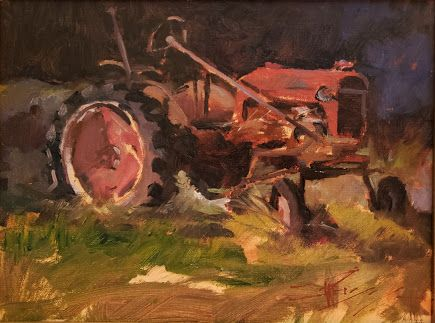 """""""Relic"""" plein air painting by Robin Weiss"""