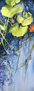 Waterlily Connections..Watercolor..Texas Artist..Rae Andrews
