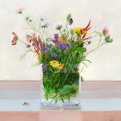 "Original Still Life Floral Painting ""Under the Surface"" by Colorado Artist Nancee Jean Busse"