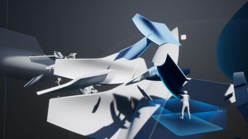 "Zaha Hadid's ""Project Correl"" Exhibition Allows Visitors to Build a Virtual Structure Over Time"