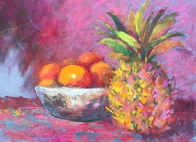 """Contemporary Still Life, """"Fruit Bowl,"""" by Amy Whitehouse"""