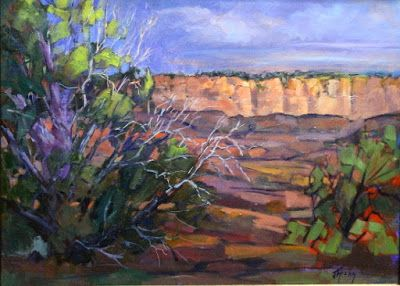 """Cold Shivers Point, Impressionist Landscape, Fine Art Oil Painting """"Daybreak at Cold Shivers Point"""" by Colorado Contemporary Fine Artist Jody Ahrens"""
