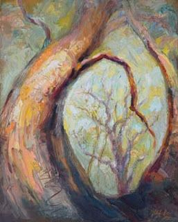 "New ""Through the Keyhole"" Palette Knife Oil Painting by Contemporary Impressionist Niki Gulley"