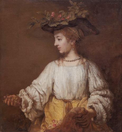 Three 17C Goddess Flora by Rembrandt 1606-1669