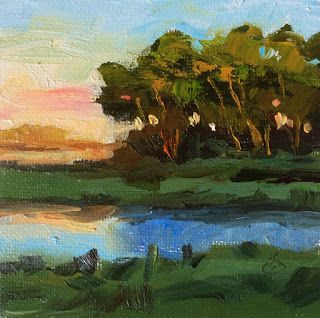 MINIATURE OIL PAINTING by TOM BROWN