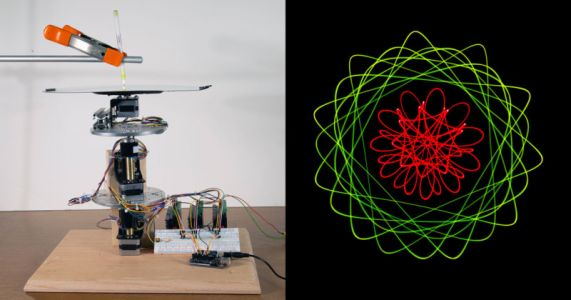 Light Painting Photos with a Geometric Drawing Machine