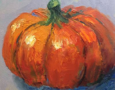 """Pumpkin Painting, """"Thanksgiving,"""" by Amy Whitehouse"""