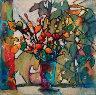 """Colorful Contemporary Still Life Painting, """"Transitions"""" by Passionate Purposeful Painter Holly Hunter Berry"""