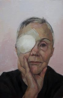 Eye Surgery. 16 x 10 inches, oil on canvas paper