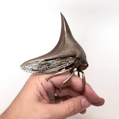 Metallic Specimens by Dr. Allan Drummond Perfectly Replicate Prehistoric and Modern Insects in Bronze and Silver