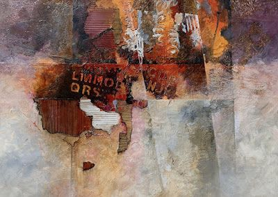 """Mixed Media, Abstract Art, Contemporary Painting """"Inscrutable"""" by Carol Nelson Fine Art"""