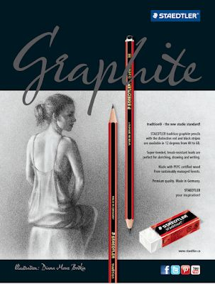 Staedtler Ads with my Drawings