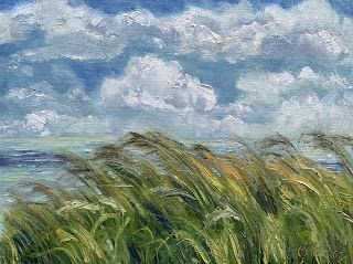 Morning Breeze, by Melissa A. Torres, 9x12 oil on linen panel, plein air