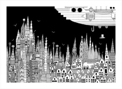 Intricate Illustrations of Italo Calvino's 'Invisible Cities'