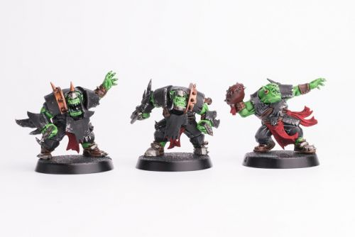 WIP: Blitz/Blood Bowl Ork Team 1