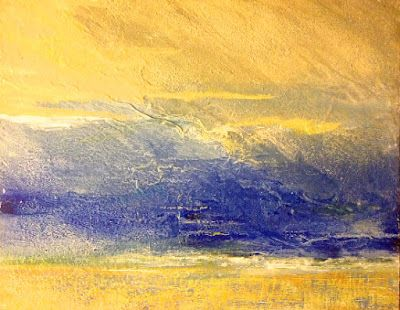 """Mixed Media Landscape Painting """"Maelstrom"""" by California Artist Cecelia Catherine Rappaport"""