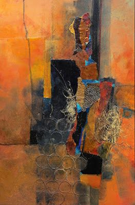 "Mixed Media Contemporary Abstract Art Painting, ""Sunny Mindset"