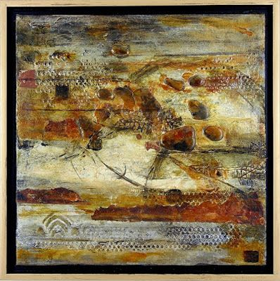 "Mixed Media Art, Organic Abstract, Contemporary Art, ""Metanoia"" by Texas Contemporary Artist Sharon Whisnand"