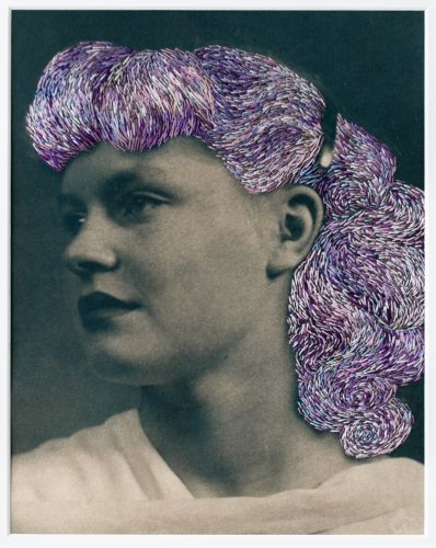 Embroidered Patches Redefine Vintage Postcards and Photographs by Fiber Artist Han Cao