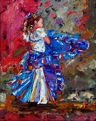 Child Figurative Art Painting Colorful Paintings
