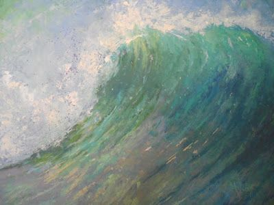 Seascape Oil Painting, Ocean Wave, Caribbean Seascape, 20x24