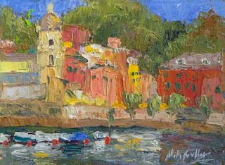 Visiting Vernazza, Italy with Niki Gulley and Scott Williams