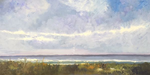 "Land, Sea, and Sky Painting, ""Beach Day 7,"" by Amy Whitehouse"