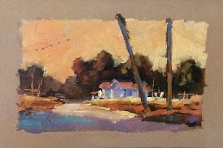 COLORFUL LANDSCAPE STUDY by TOM BROWN, $50