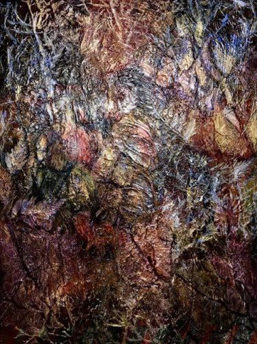 """Mixed Media Painting, Contemporary Art, Abstract, Textured Art """"Walk With Me"""" by Contemporary Artist Liz Thoresen"""