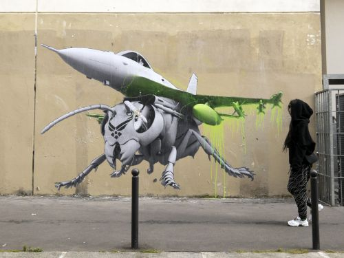 New murals by Ludo in Paris, France