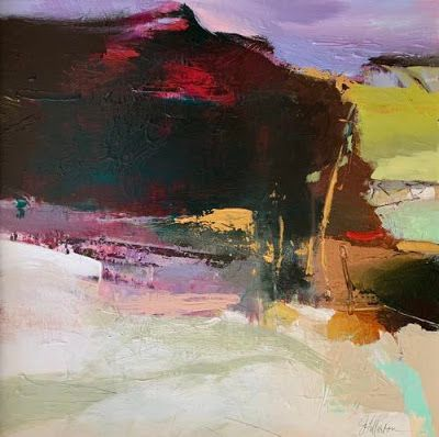 """Contemporary Abstract Landscape Art Painting """"Walk With Me"""" by Intuitive Artist Joan Fullerton"""